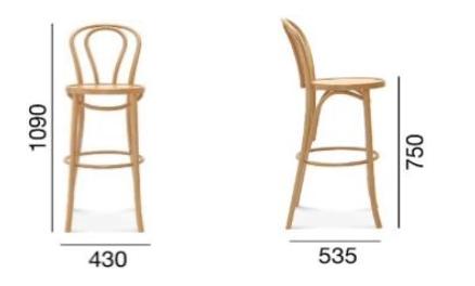 stołek barowy fameg bst-18