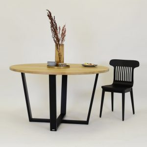 okrągły stół 130 cm