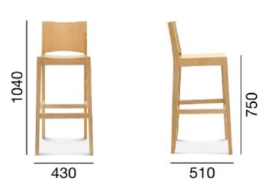 stołek barowy base ust-0707