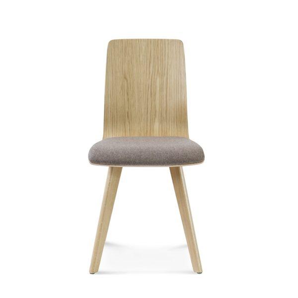 Krzesło z litego drewna z pełnym oparciem i tapicerowanym siedziskiem Fameg A-1601
