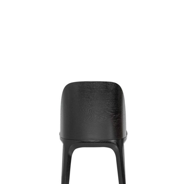 A-1802 hips Fameg czarne krzesło drewniane ze sklejki