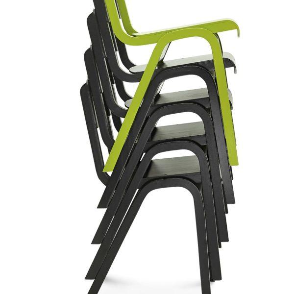Nowoczesne krzesło drewniane w wielu kolorach zielone czarne żywe kolory Fameg model A-9349