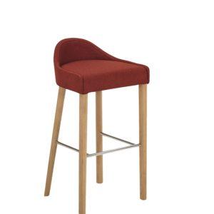 krzesło barowe Paged z niskim oparciem
