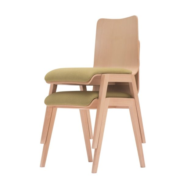 Krzesło gięte z siedziskiem tapicerowanym Paged Link A 2120