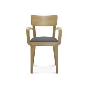 tapicerowane krzesło z podłokietnikami