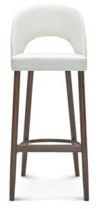 Krzesło barowe z wysokim oparciem