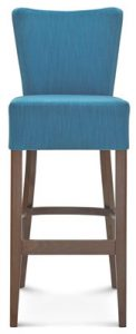 tapicerowane krzesło barowe hoker z wysokim oparciem